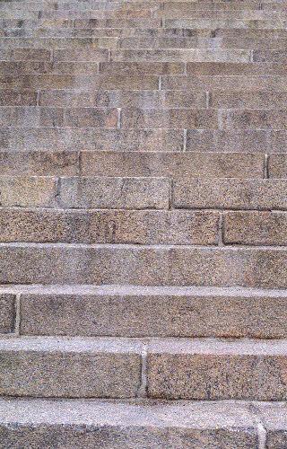 Tuomiokirkon  portaat (muotoon hakattu)