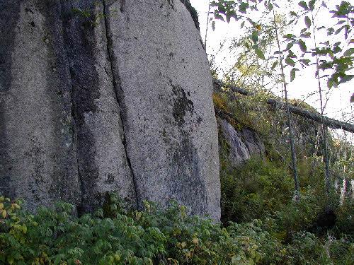 Porfyyrinen graniitti, Kymönkoski, Viitasaari. Tutkittu mahdollisena rakennuskiviesiintymänä.