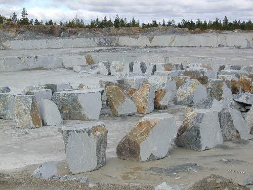 Tulikivi Oyj:n Suomussalmen vuolukivilouhos. (Kiantastone Oy)