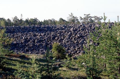 Pyhävuoren Jatulintarha, muinaisranta, Kristiinankaupunki.