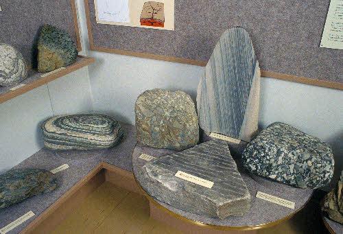 GTK:n toteuttama geologinen näyttely Savukosken Geopirtissä.