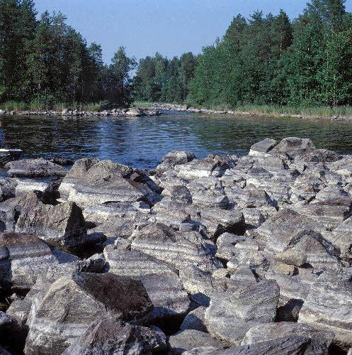 Kallaveden rantakivikkoa.
